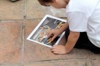 Uno de los niños participantes en las actividades del proyecto